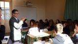 Yahia Belaskri en atelier d'écriture avec des lycéens