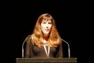 Violaine Herveau, administratrice de Lecture en Tête, lors du discours d'inauguration