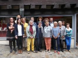 Les membres du Prix Littéraire du 2ème roman 2016 au lancement le samedi 19 septembre 2015